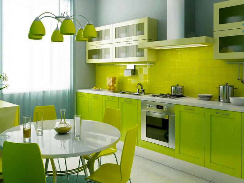 Sơn bếp màu xanh lá