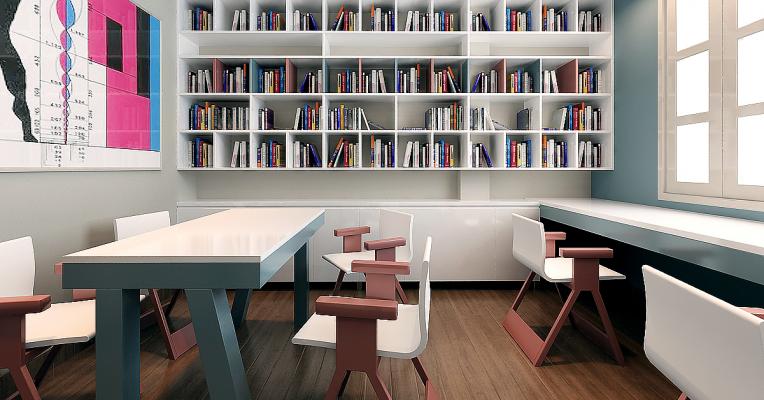 Không gian lý tưởng cho phòng đọc sách
