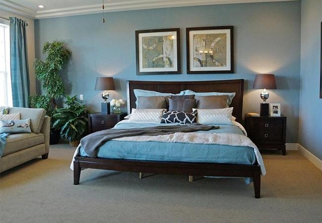 Phòng ngủ xanh da trời